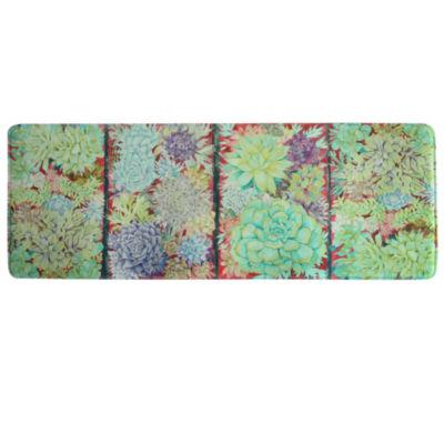 bacova guild succulent panels rectangular kitchen mat - Anti Fatigue Kitchen Mat