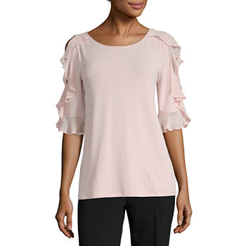7ebac49ebf1db Worthington Tall Size Tops for Women - JCPenney