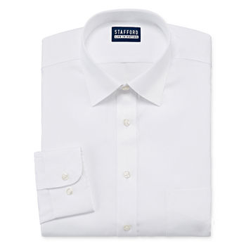 Stafford Mens All Season Coolmax Moisture Wicking Dress Shirt