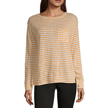 56e90a0c Long Sleeve T-shirts Tops for Women - JCPenney