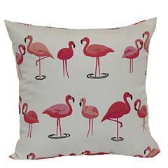 Outdoor Oasis™ Flamingo Square Pillow