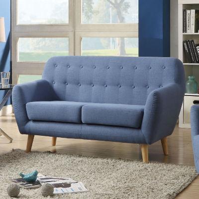 Ngaio Loveseat Blue Linen