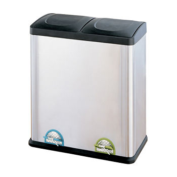 Neu Home Stainless Steel 2Compartment Step-On Trash Can 60L