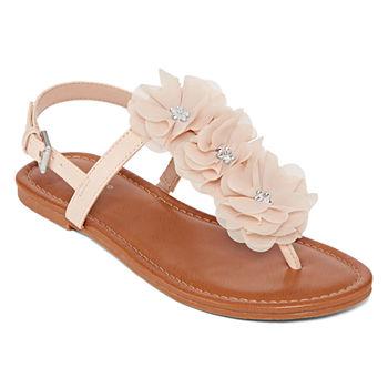 109f48e099e8 Flat Sandals Pink Women s Sandals   Flip Flops for Shoes - JCPenney