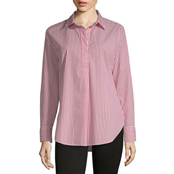 66f1f83fc a.n.a Womens Short Sleeve Button-Front Shirt · (1). Add To Cart. Only at JCP