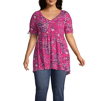 218167a7e8936 Boutique +-Womens Scoop Neck 3 4 Sleeve T-Shirt Plus. Add To Cart. Only at  JCP