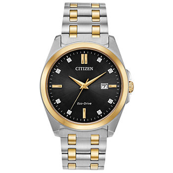 Citizen Corso Mens Diamond Accent Two Tone Stainless Steel Bracelet Watch - Bm7107-50e