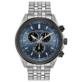 Citizen Brycen Mens Chronograph Silver Tone Stainless Steel Bracelet Watch - Bl5568-54l