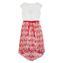 Speechless® Floral Chevron High-Low Dress - Girls 7-16