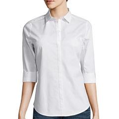 Worthington® 3/4-Sleeve Button-Down Shirt