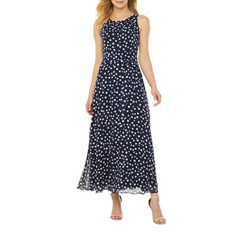 R & K Originals Sleeveless Dots Maxi Dress