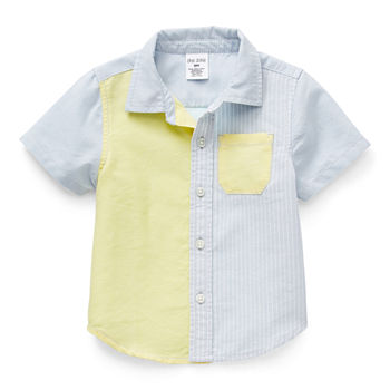 Okie Dokie Baby Boys Short Sleeve Button-Down Shirt