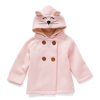 Weatherproof Baby Girls Fleece Hooded Midweight Jacket
