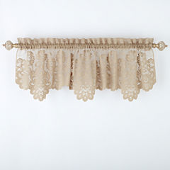 JCPenney Home™ Shari Lace Rod-Pocket Tailored Valance