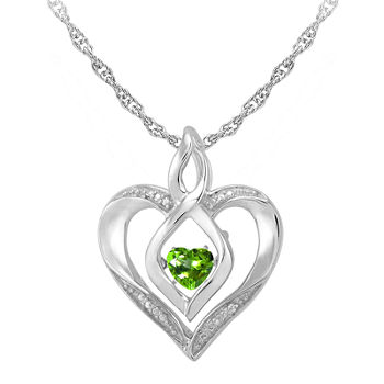 p peridot white pendants cut pendant gold diamond birthstone jewelry natural necklace cushion cushioncut gemstone