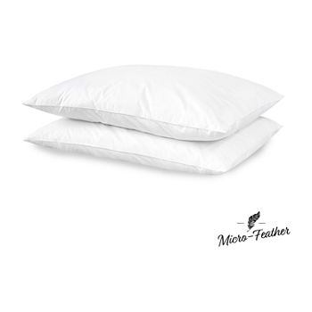 Sensorpedic Micro-Feather Plush Down 2-Pack Soft Density Pillows