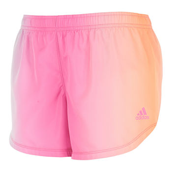adidas Big Girls Mid Rise Adjustable Waist Running Short