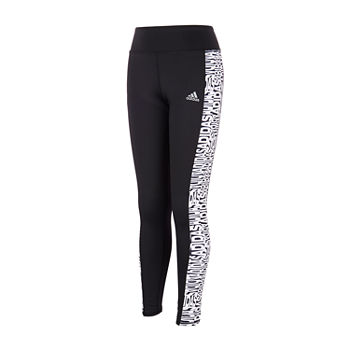 adidas Big Girls Mid Rise Full Length Leggings