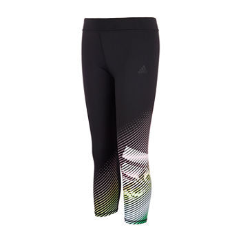 adidas Big Girls Mid Rise 7/8 Ankle Leggings