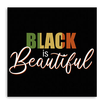 Black Is Beautiful Canvas Giclee Canvas Art