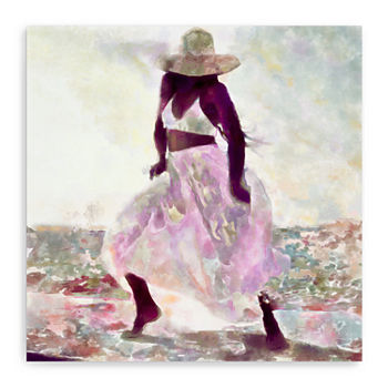 Her Colorful Dance 2 Canvas Giclee Canvas Art