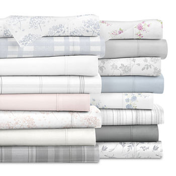 Casual Comfort Solid and Print Flannel Sheet Set