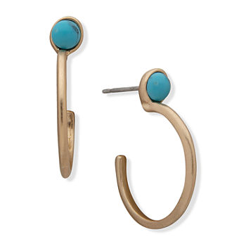 a.n.a Reconstituted Turquoise Hoop Earrings