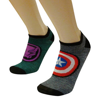 Marvel Mens 2 Pair Marvel No Show Socks