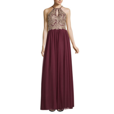 My Michelle Sleeveless Applique Ball Gown,Juniors
