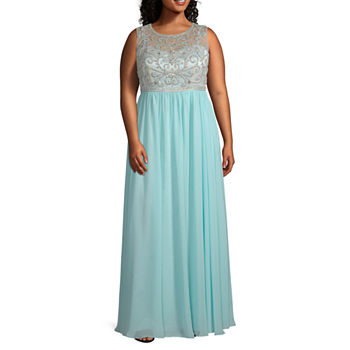 One By Eight Sleeveless Ball Gown-Juniors Plus