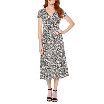 515e2bed62 Fit   Flare Dresses Black Church Dresses for Women - JCPenney