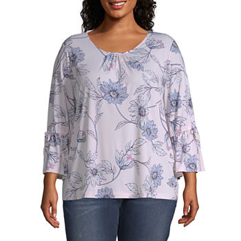 8f0d08ac256 Plus Size Tops for Women - JCPenney