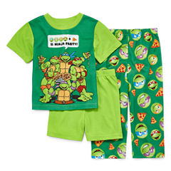 Boys 3-pc. Short Sleeve Teenage Mutant Ninja Turtles Kids Pajama Set-Toddler