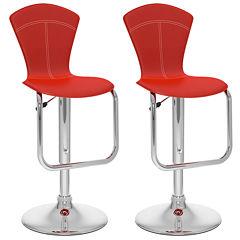 2-Pc. Tapered Back Adjustable Barstools