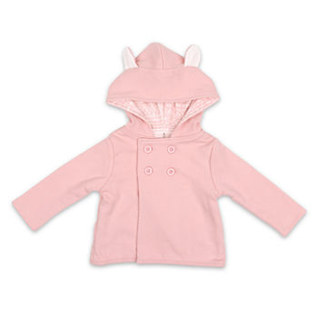 The Peanutshell Pink Bunny Baby Girls Midweight Jacket