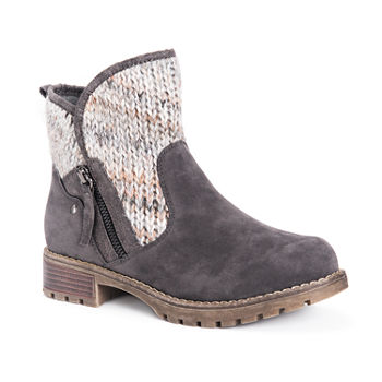 Muk Luks Womens Gerri Booties Block Heel