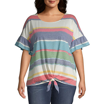 940cd5fafff Plus Size Tops for Women - JCPenney