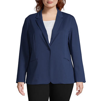762caa6599093 Plus Size Ponte Blazers for Women - JCPenney
