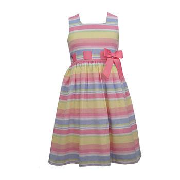 Bonnie Jean Girls Sleeveless Striped A-Line Dress - Preschool / Big Kid