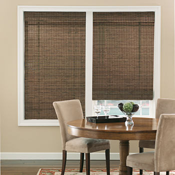 Bali Natural Custom Cordless Light-Filtering Roman Shade