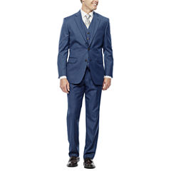 Stafford Travel Wool Blend Stretch Suit Separates- Classic Fit