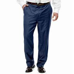 Stafford Travel Wool Blend Stretch Flat Front Pants-Big and Tall