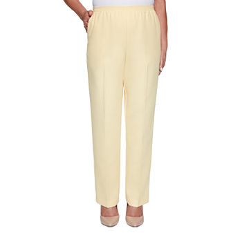 Alfred Dunner Classics Womens Straight Pull-On Pants