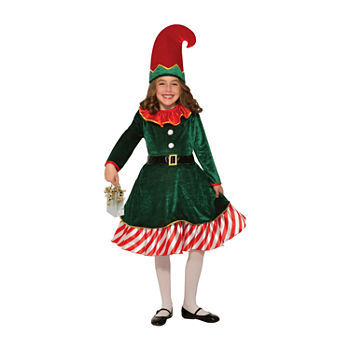 Kids Santa'S Little Elf Costume Girls Costume Girls Costume