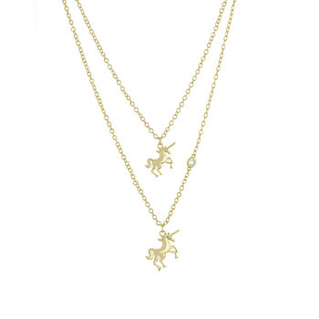 Sparkle Allure Mommy & Me 2-pc. Cubic Zirconia 18K Gold Over Brass Cable Necklace Set