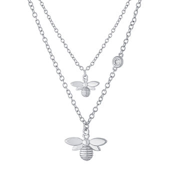 Sparkle Allure Mommy & Me 2-pc. Cubic Zirconia Pure Silver Over Brass Cable Necklace Set