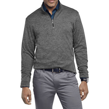 Van Heusen Mens Mock Neck Long Sleeve Sweatshirt