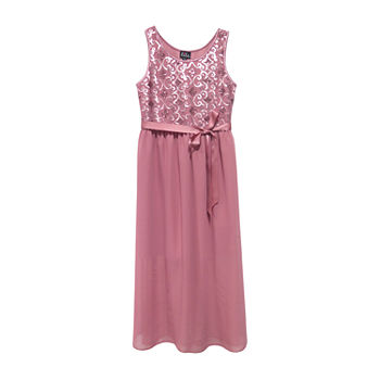 Lilt Big Girls Sleeveless Maxi Dress