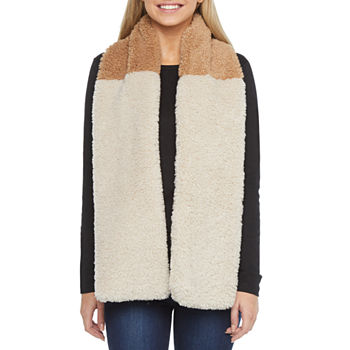 Mixit Faux Fur Two Tone Cold Weather Scarf