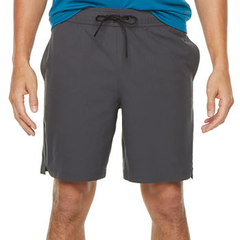 Msx By Michael Strahan Mens Mid Rise Stretch Workout Shorts